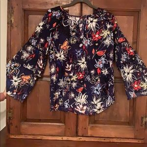 Flowered boho blouse